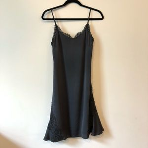 Gray slip dress by Banana Republic